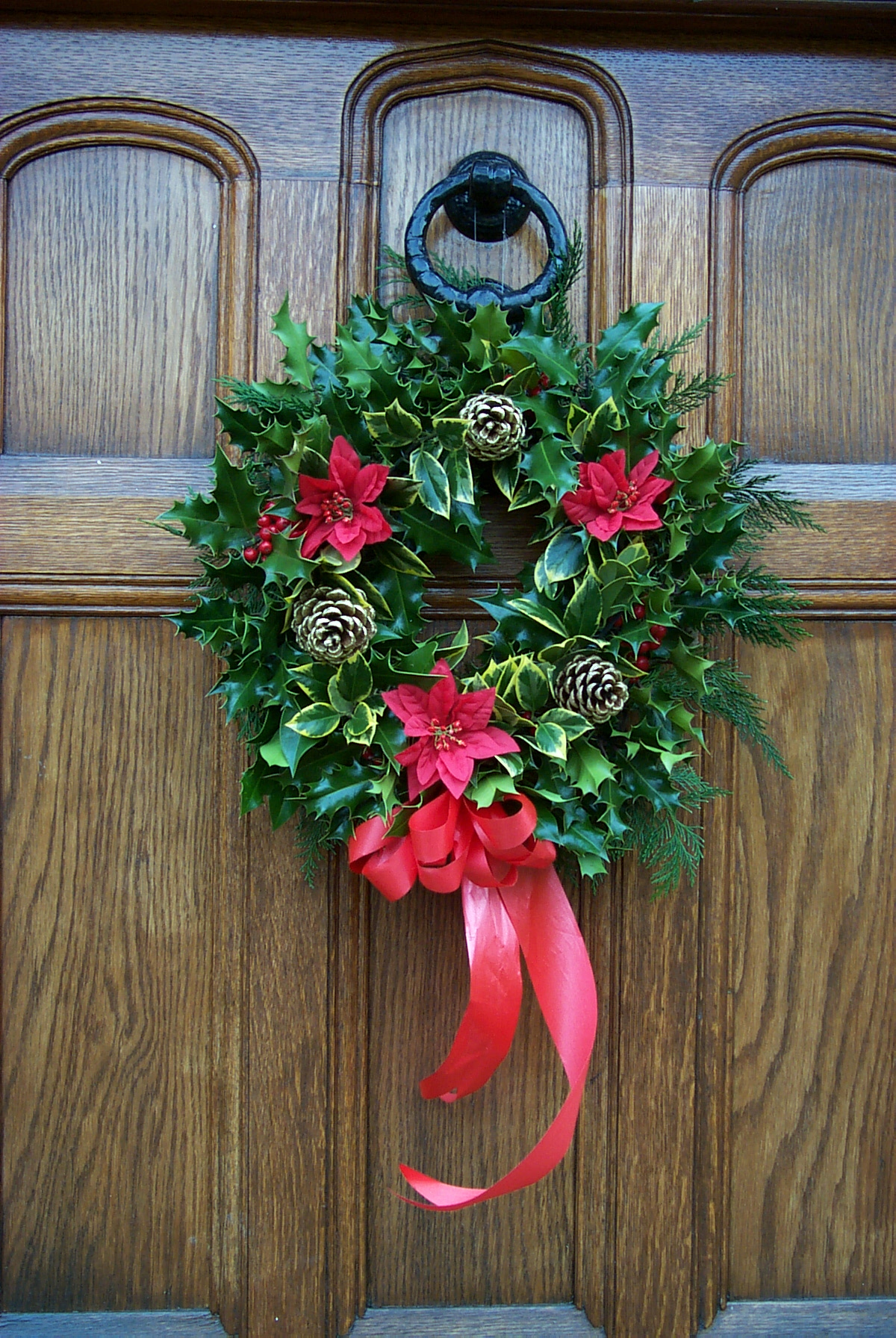 Decorated holly wreath £13